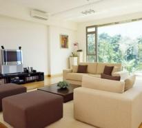 Wohnzimmer in Beige gestalten – 60 Beispiele, wie Sie das besser machen