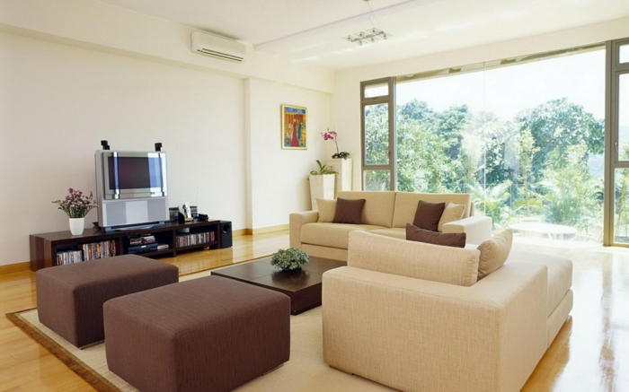 emejing wohnzimmer beige couch pictures - interior decorating, Innenarchitektur ideen