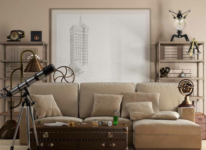 vintage dekor wohnzimmer. Black Bedroom Furniture Sets. Home Design Ideas