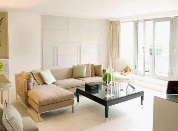 wohnideen wohnzimmer beiges interieur schicke dekokissen kerzen
