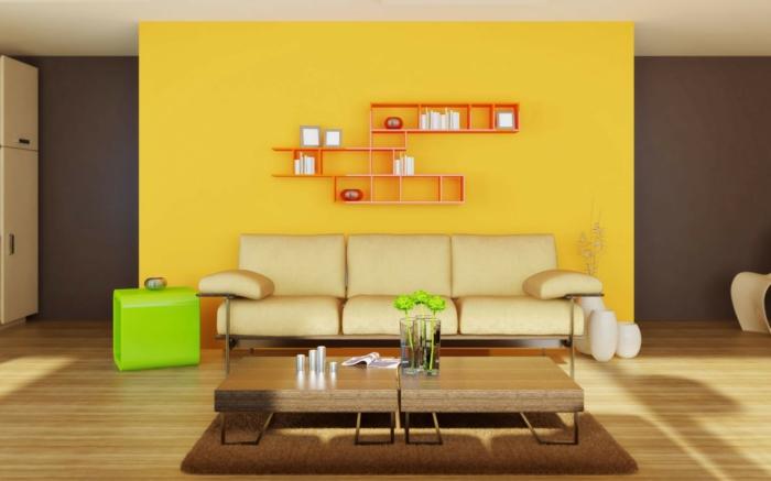 Wohnideen Wohnzimmer Gelb Secretstigma