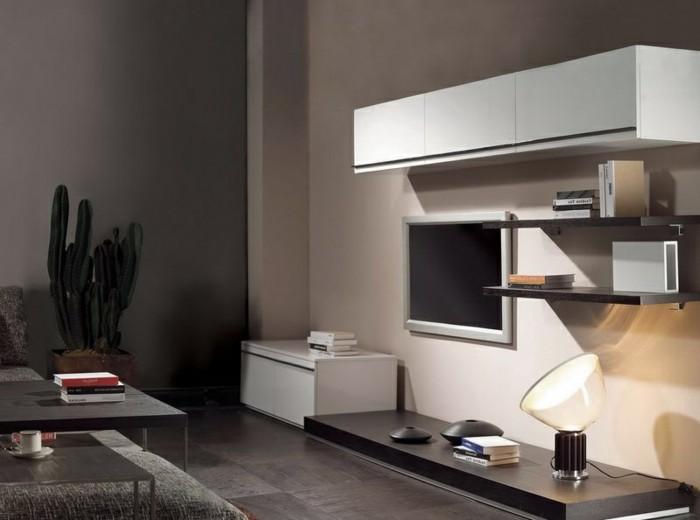 Wohnzimmer mit steinwand grau for Wohnzimmer in grau