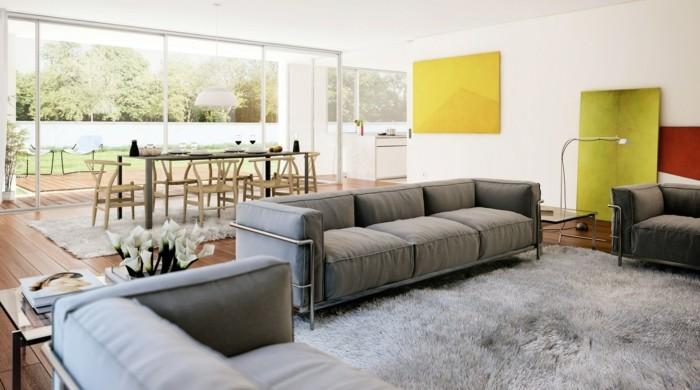 Hellgrauer teppich  Schönes Wohnzimmer - 133 Einrichtungsideen in jeglichen Stilen