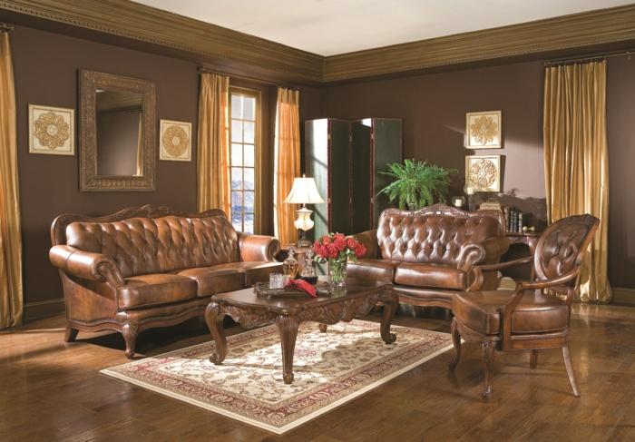 Wohnzimmer Braun - 60 Möglichkeiten, wie Sie ein braunes ...