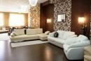 wohnideen-wohnzimmer-wandgestaltung-braun-schöne-trennwand-bereiche-absondern
