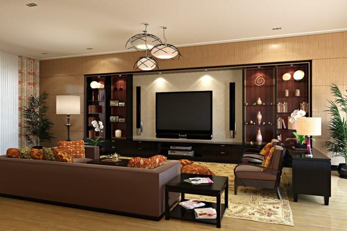 wohnzimmer braun - 60 möglichkeiten, wie sie ein braunes, Deko ideen