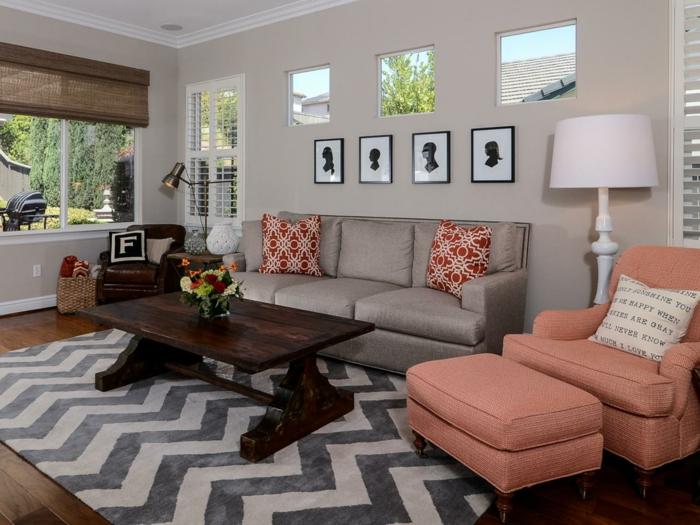 Beispiele Wohnzimmer Streichen Bekennen Sie Farbe Tolle