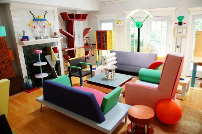 Wohnung Einrichten Stil wohnung einrichten ideen in memphis stil