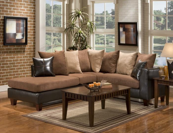 braune couch wohnzimmer lecker on moderne deko ideen plus 4 ...