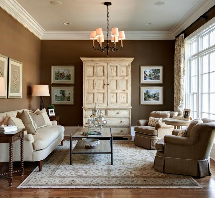 Wohnzimmer braun möglichkeiten wie sie ein braunes