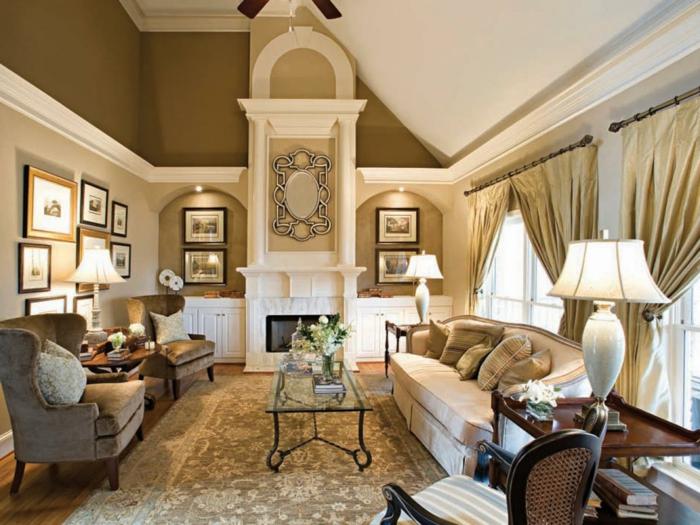 wohnzimmer braun wände waddeko schicke einrichtung