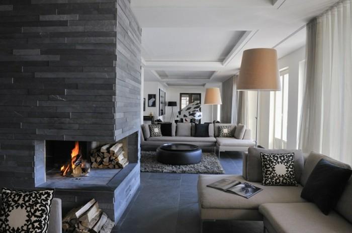 wohnzimmer grau - in 55 beispielen erfahren, wie das geht, Wohnideen design