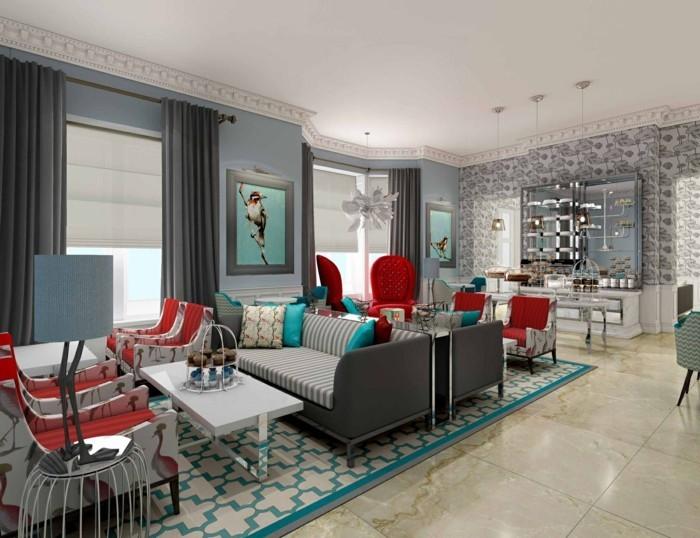 Wohnzimmer Grau - In 55 Beispielen Erfahren, Wie Das Geht Wohnideen Wohnzimmer Grau