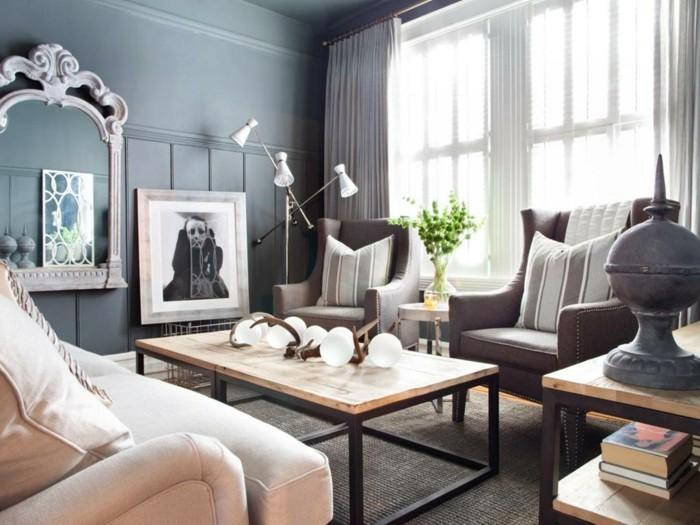wohnzimmer grau beige:wohnzimmer grau wandgestaltung beige möbel pflanzen wanddeko