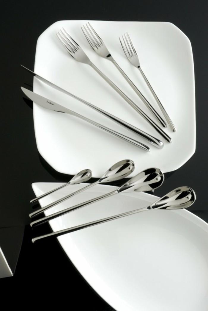 Besteck Set Tisch decken Besteck mit minimalistischem Design