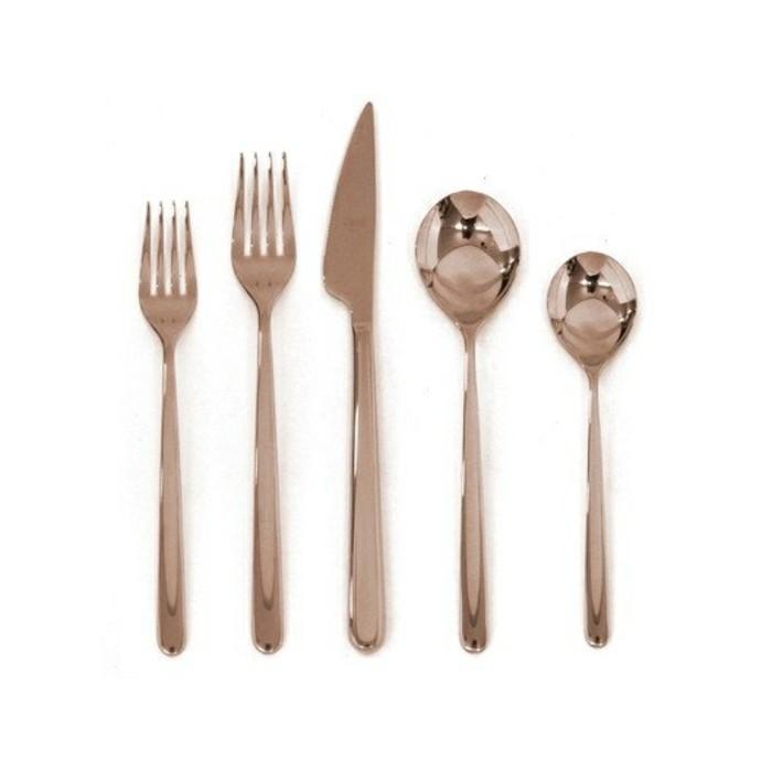 Besteck Set Tischdecken Besteck kaufen minimalistisches Design