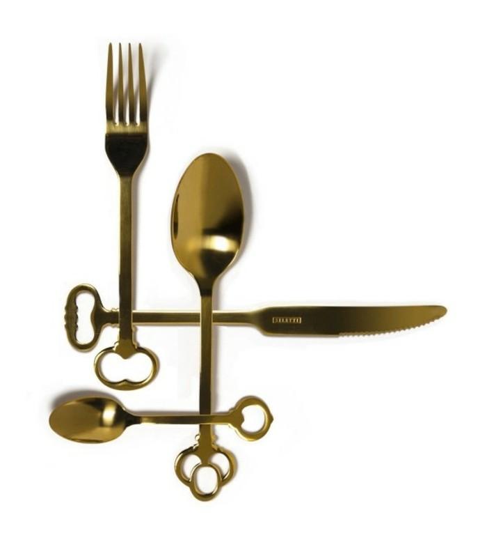 Besteckset festliche Tischdeko außergewöhnliche Besteck Griffe
