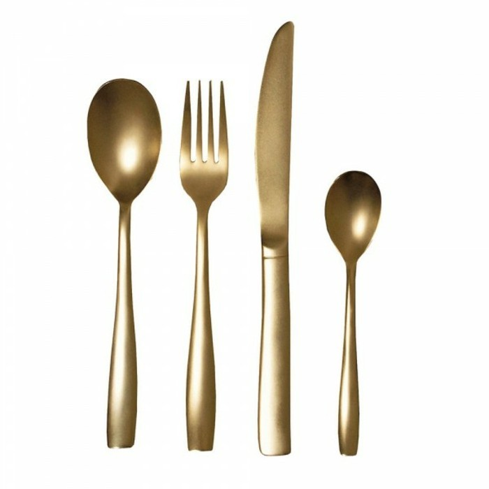 Besteckset festliche Tischdeko außergewöhnliches Besteck gold