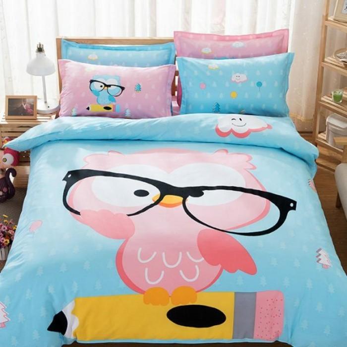 Bilder Eulen Accessoires Kinderbett Bettwäsche Muster Eule