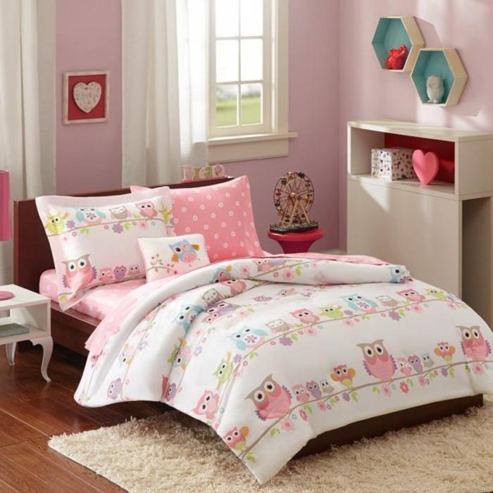 Bilder Eulen Accessoires Kinderzimmer Bettwäsche Muster Eule
