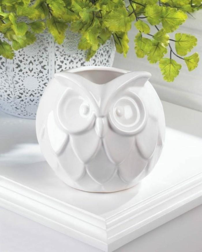 Deko Eulen Accessoires Dekoartikel Eule Porzellan Vase