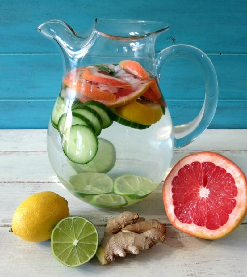 Diätrezepte gegen Orangenhaut gesundes Wasser