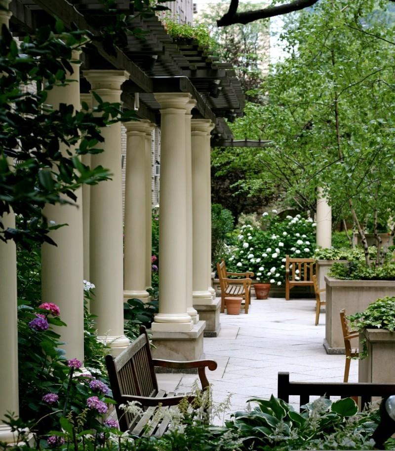 Gartengestaltung Gartendeko Ideen Säulen Garten und Landschaftsbau