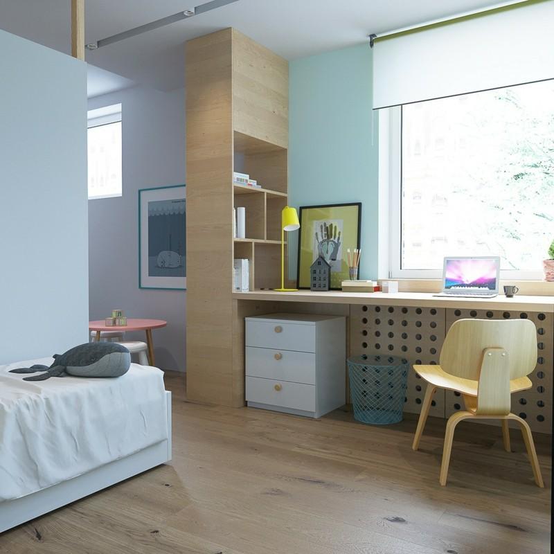 Kinderzimmer skandinavisch einrichten Kinderzimmermöbel Schreibtisch