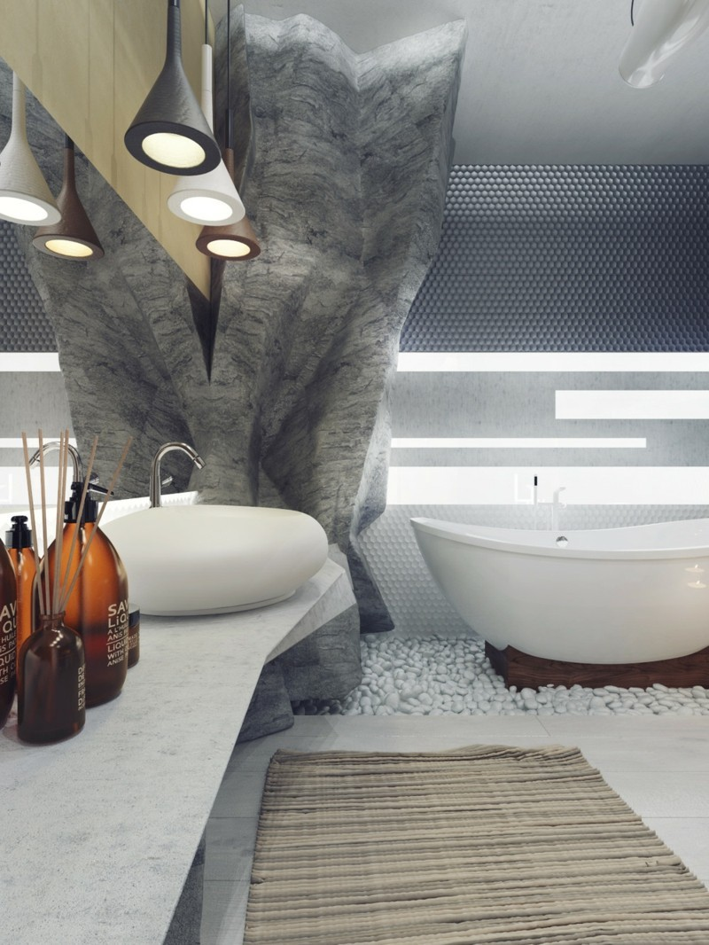 Luxus Badezimmer Einrichtung Bad Höhle Pendelleuchten