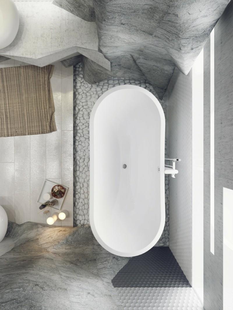 Luxus Badezimmer Einrichtung Bad Höhle freistehende Badezimmer von oben