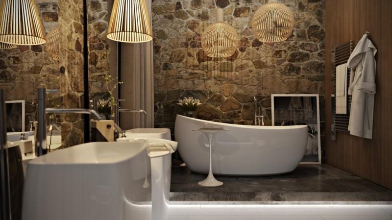 Luxus-Badezimmer-rustikale-Luxusbäder-moderne-Badarmatur