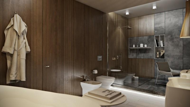 Luxus Badezimmer rustikaler Stil moderne Badeinrichtung Badewanne freistehend