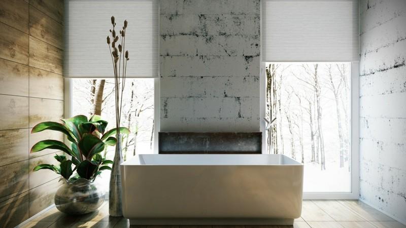Luxusbäder Bilder Badmöbel freistehende Badewanne eckig