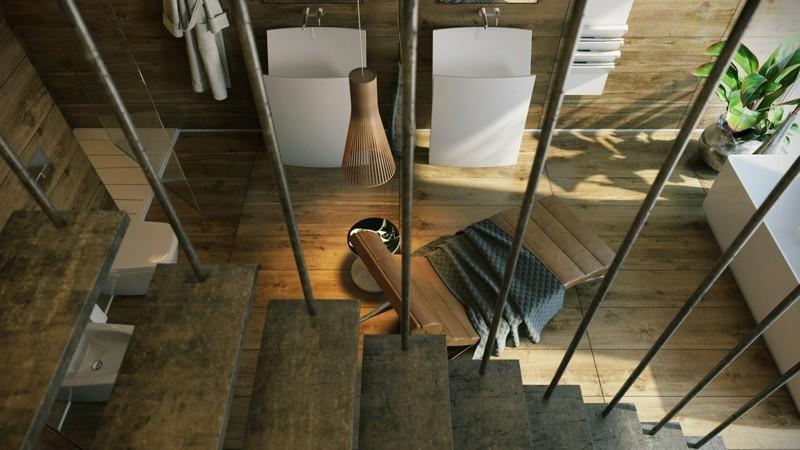 Luxusbäder Bilder Badmöbel modern Treppen Luxus Badezimmer