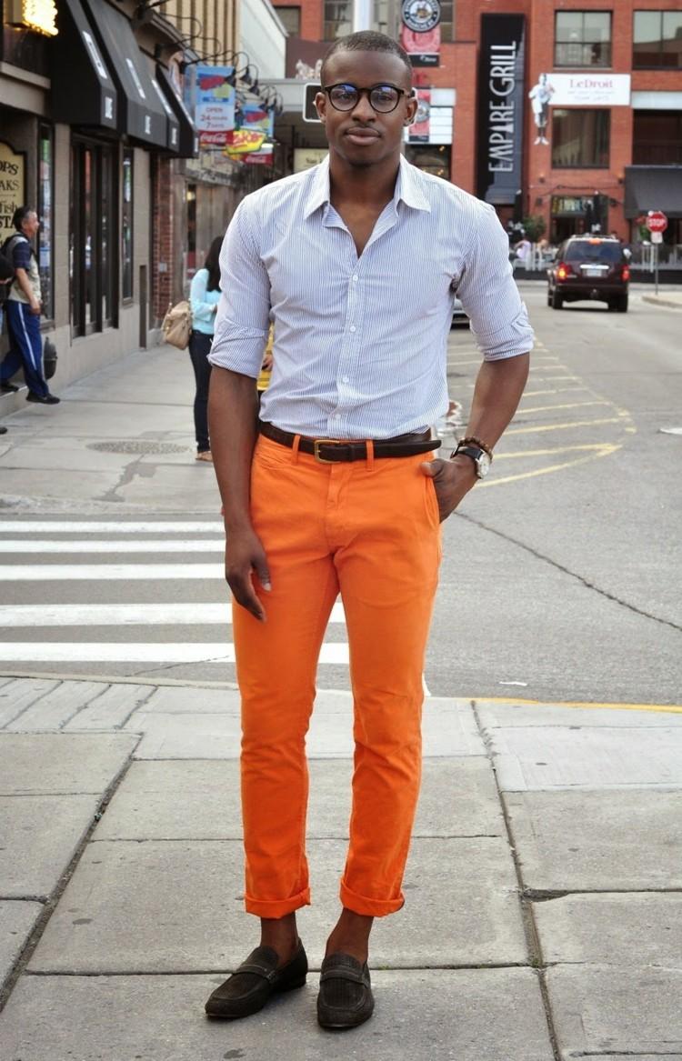 Modefehler und Flops Männermode farbige Jeans