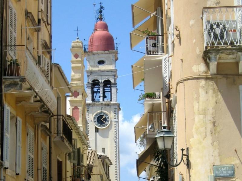 Nach Korfu reisen Stadt Korfu Gebäude Griechenland