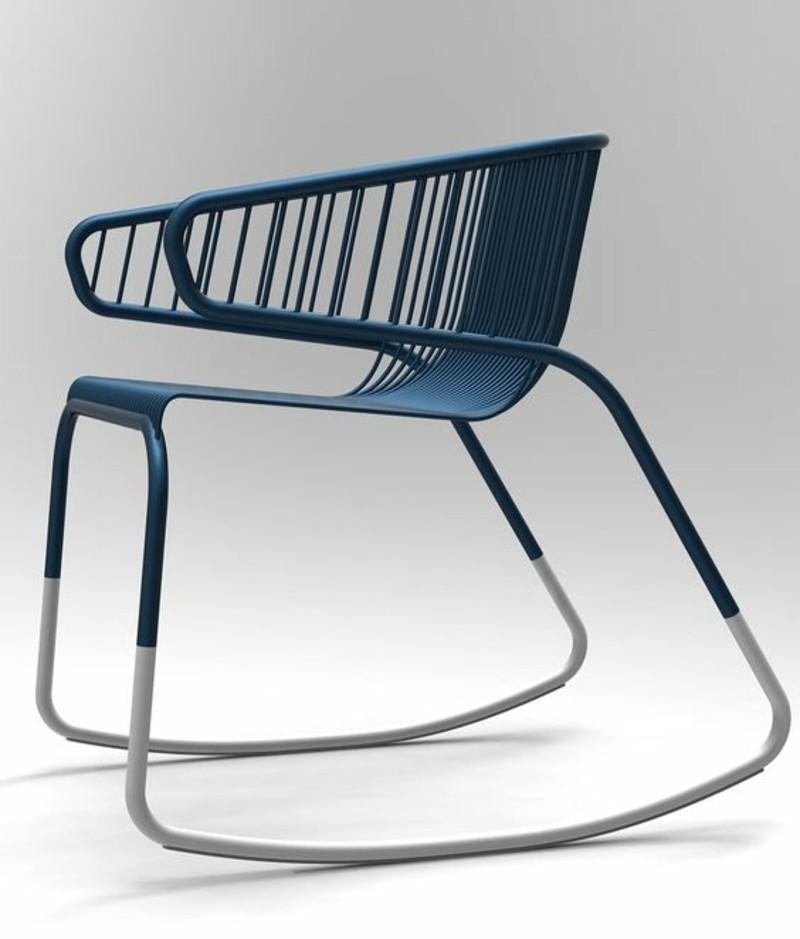 Schaukelstühl Bilder Wohnzimmermöbel blau innovatives Design
