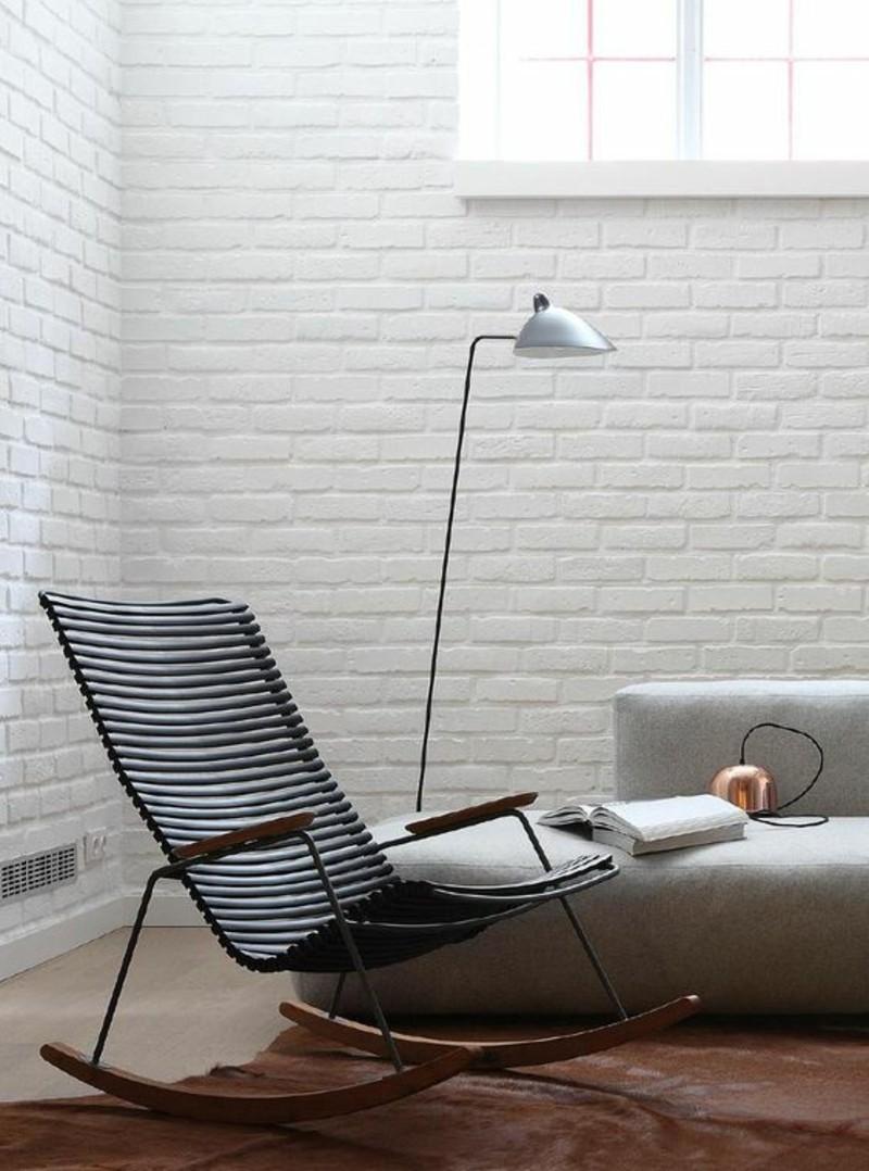 Schaukelstühle Wohnzimmer Möbel Bodenlampe