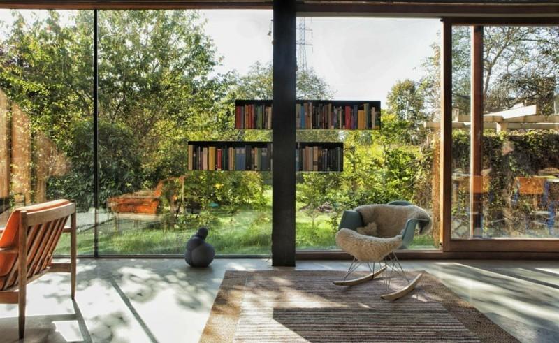 Schaukelstuhl Wohnzimmermöbel Designerstühle Felldecke Schaukelstühle