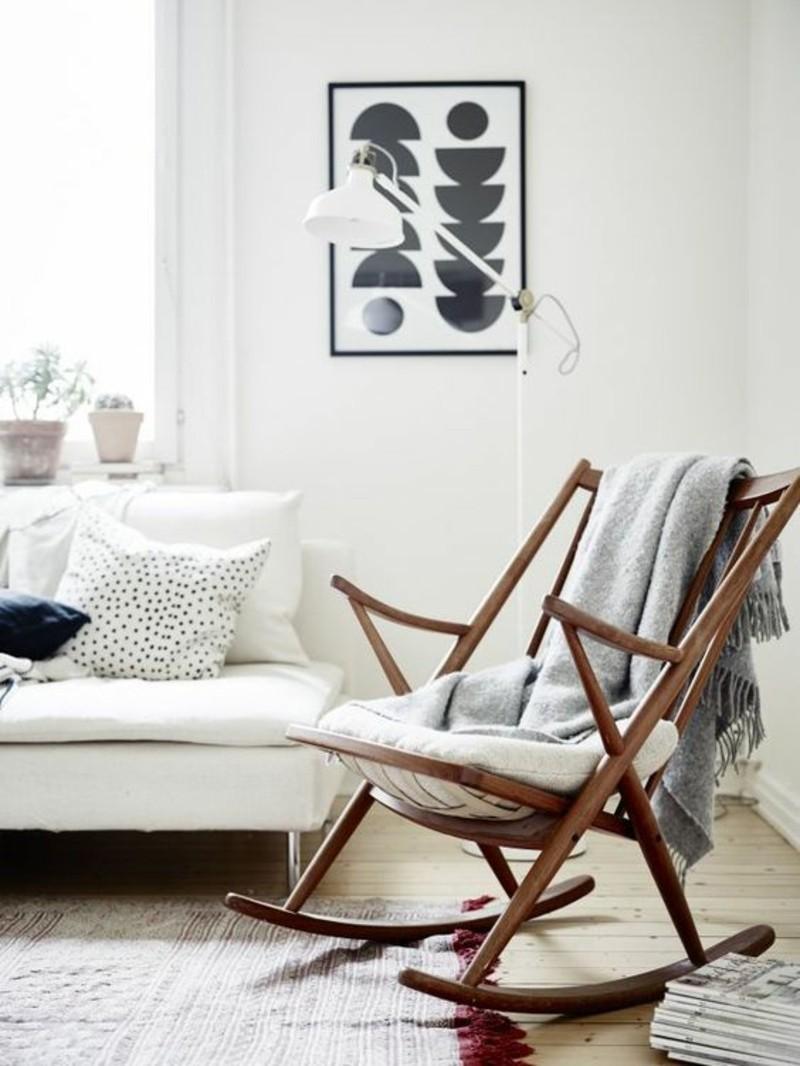 Wohnzimmermöbel Holz Schaukelstühle