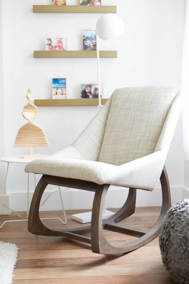 Wohnzimmermöbel Holzbeine klassische Schaukelstühle
