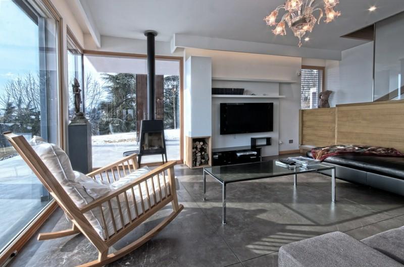 Schaukelstuhl Wohnzimmermöbel aus Holz Schaukelstühle