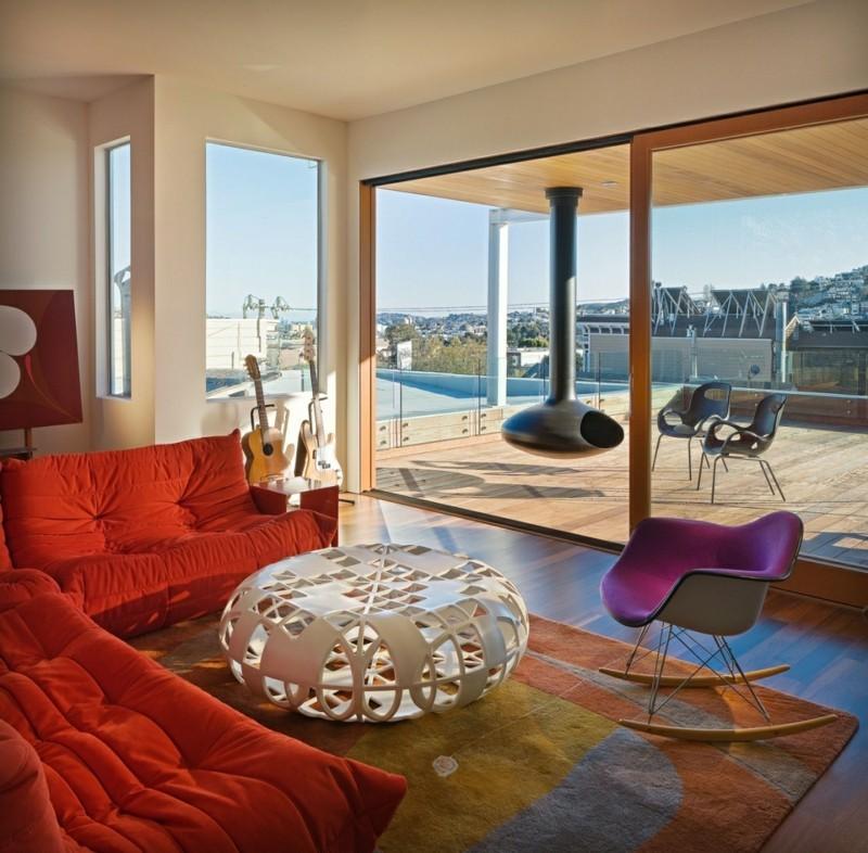 Schaukelstuhl Wohnzimmermöbel elegante Schaukelstühle