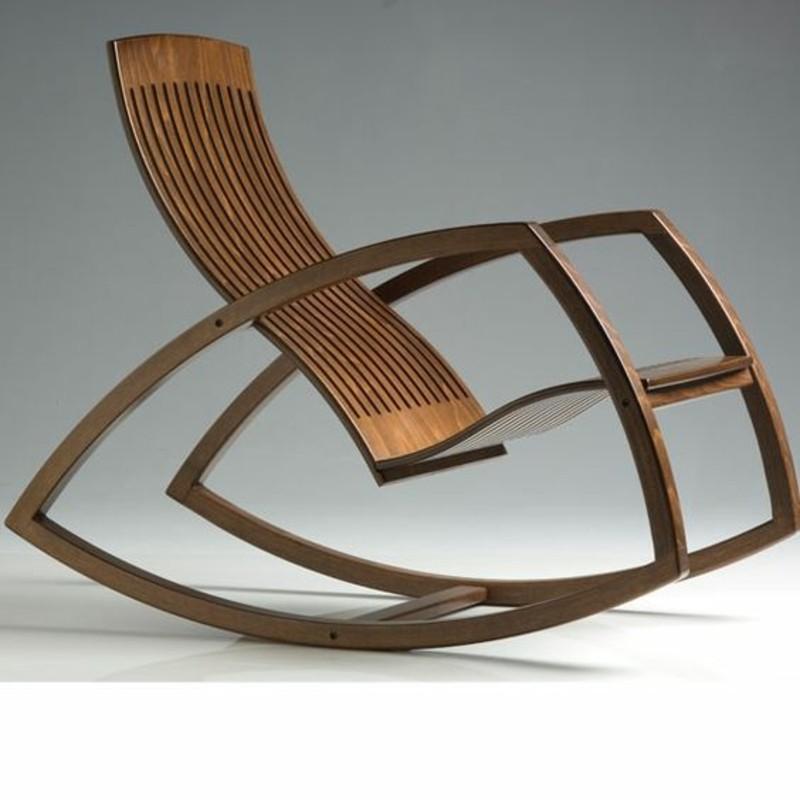 Schaukelstuhl aus Holz modermes Design Schaukelstühle