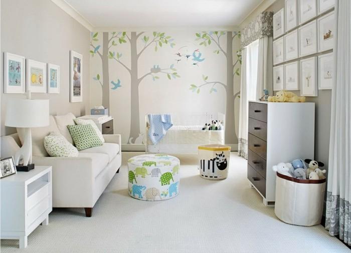 Sofa Kinderzimmer gestalten Kinderzimmer Möbel Couch Fußhocker