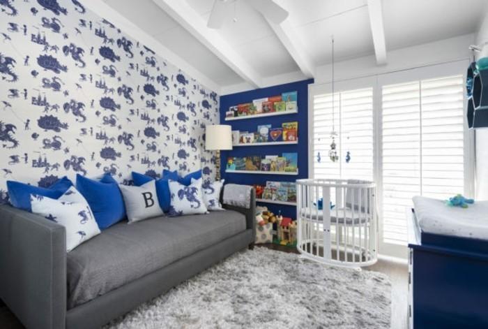 Sofa Kinderzimmer gestalten Kinderzimmer Möbel Couch Wandtapeten