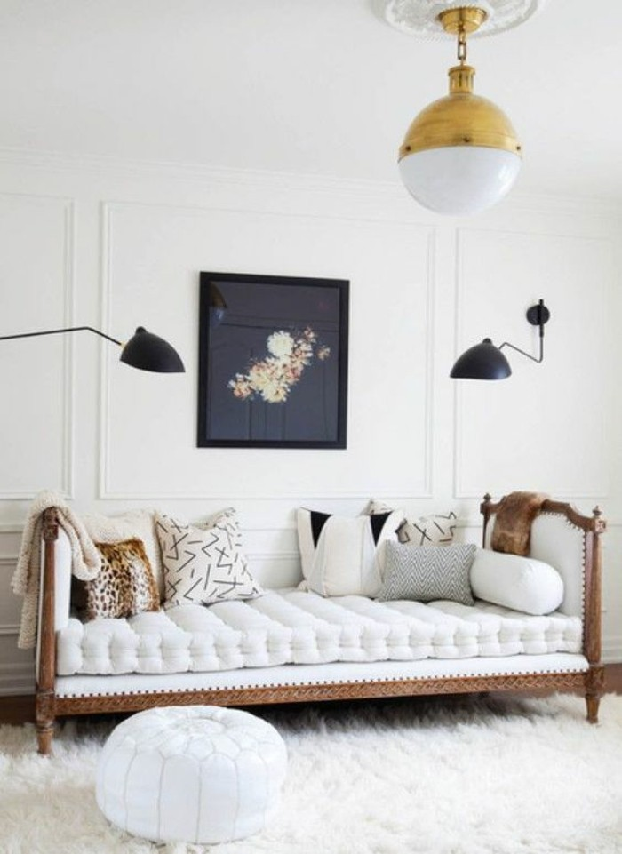 Sofa Kinderzimmer gestalten elegante Möbel Couch
