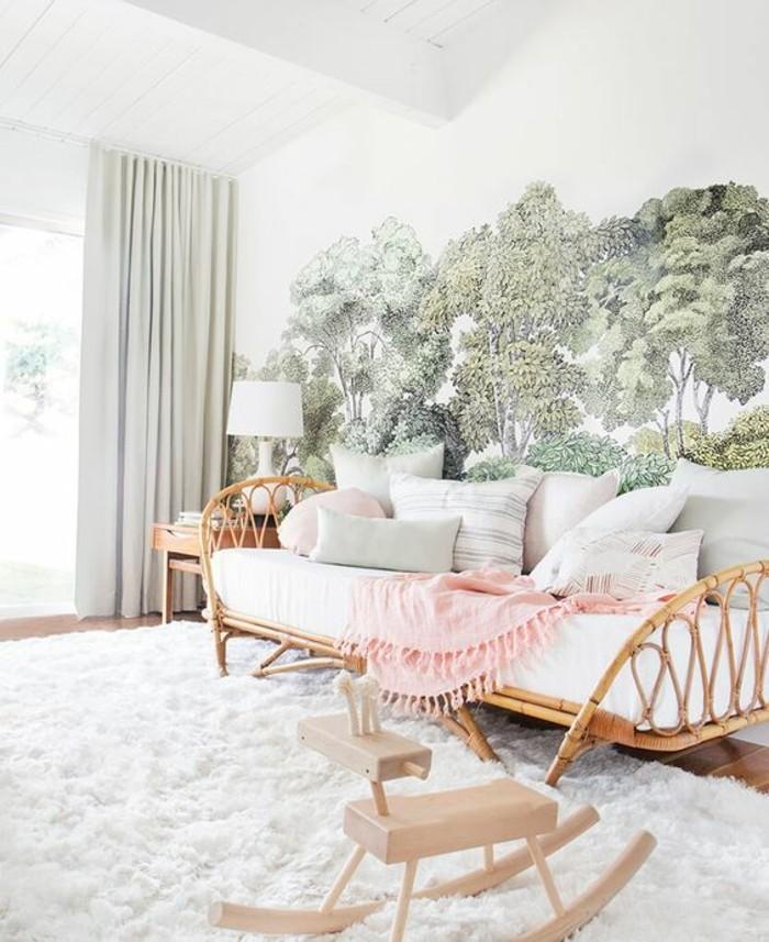 Sofa Rattan Kinderzimmer gestalten Kinderzimmer Möbel Couch