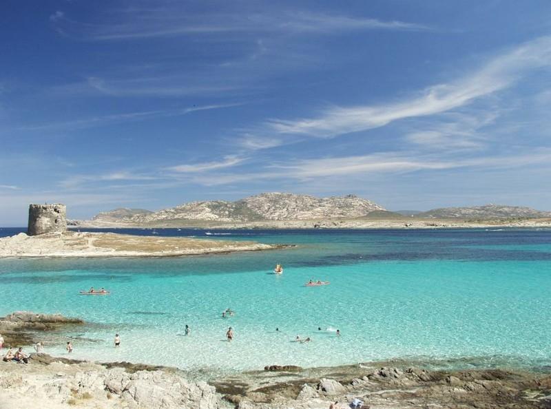 Strand La Pelosa di Stintino Urlaub Sardinien