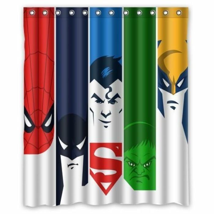 Superhelden Wohnaccessoires Deko Ideen für echte Fans Duschvorhang